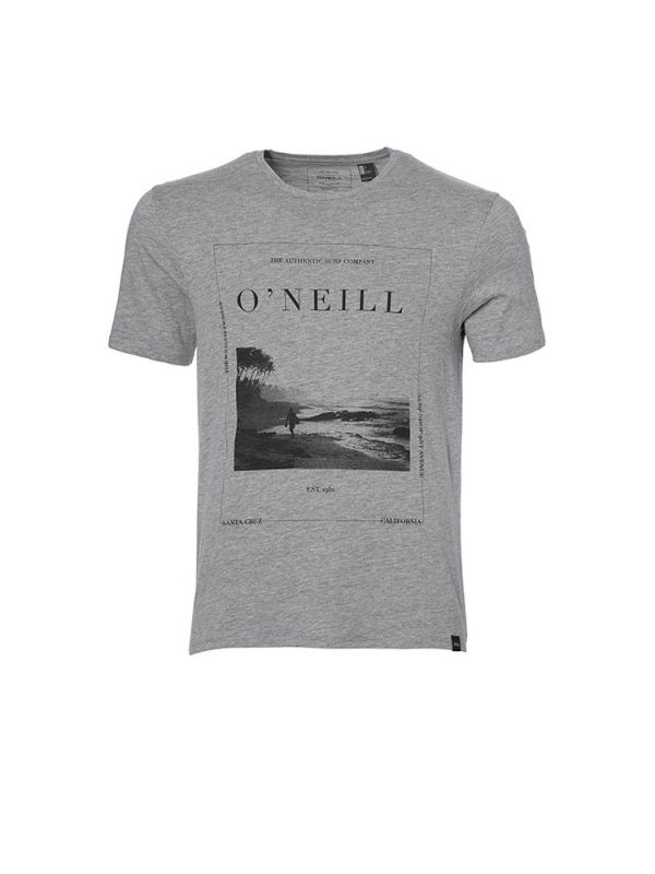 oneill 8a2380 lm frame t shirt silver melee mens