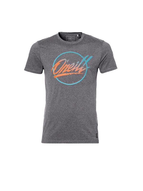 oneill 8a1715 re issue hybrid tee shirt dark grey melee mens
