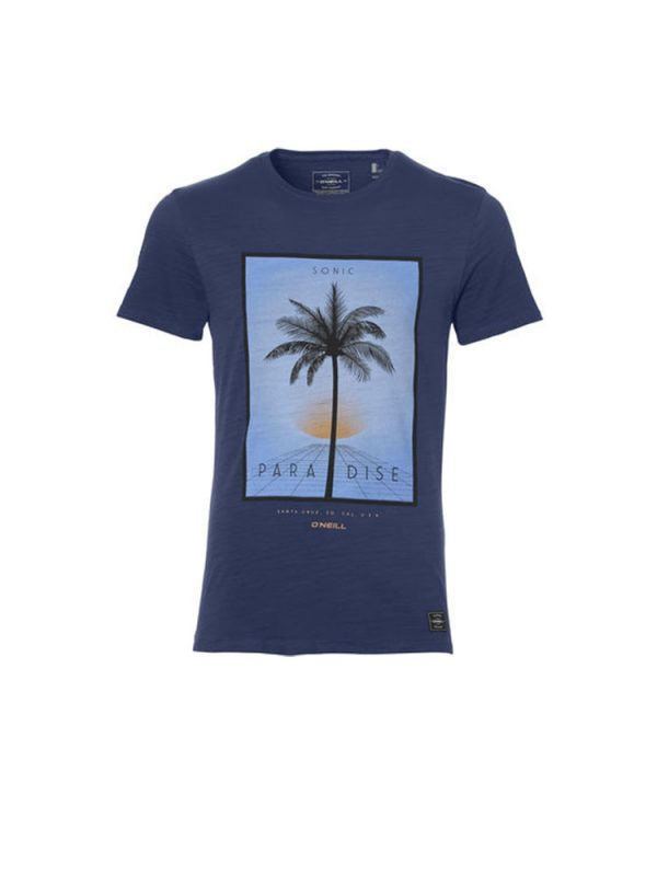 oneill 8a2310 5046 lifestyle t shirt atlantic blue mens