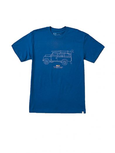 reef expedition tee shirt blue mens