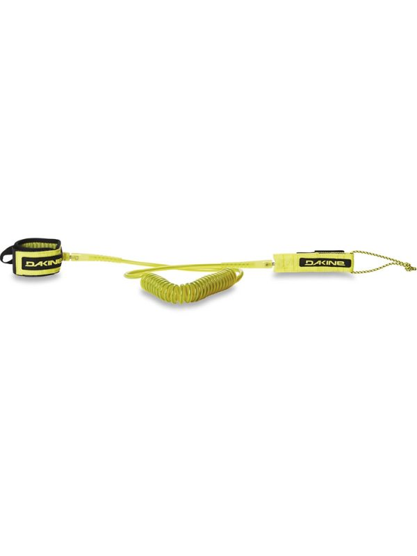Dakine Coiled Calf Leash Sulphur Yellow Wave and Flat Water