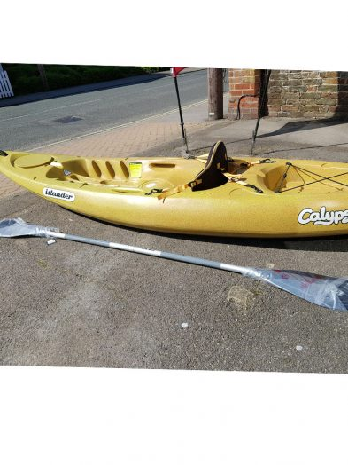 Islander Calypso recycled kayak with backrest and New 2 part paddle,