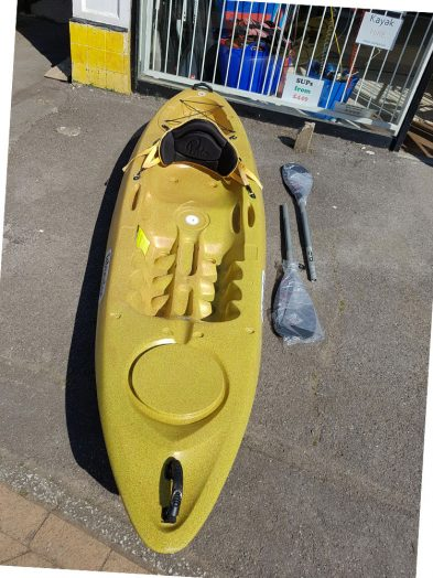 Islander Calypso recycled kayak with backrest and New 2 part paddle