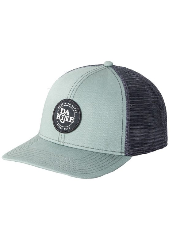 dakine circle crest trucker hat coastal green charcoal