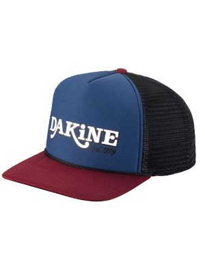 dakine throw back trucker hat midnight rosewood