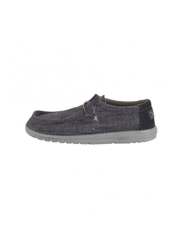 hey dude shoes wally woven textile lace up casual shoes carbone mens5