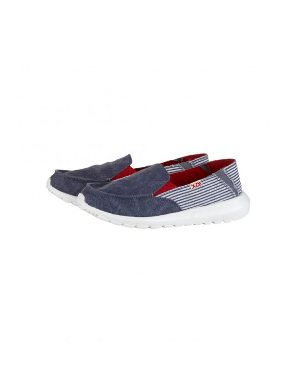 hey dude ava slip on casual shoe marine stripe ladies