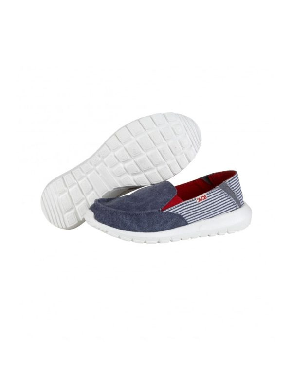 hey dude ava slip on casual shoe marine stripe ladies1