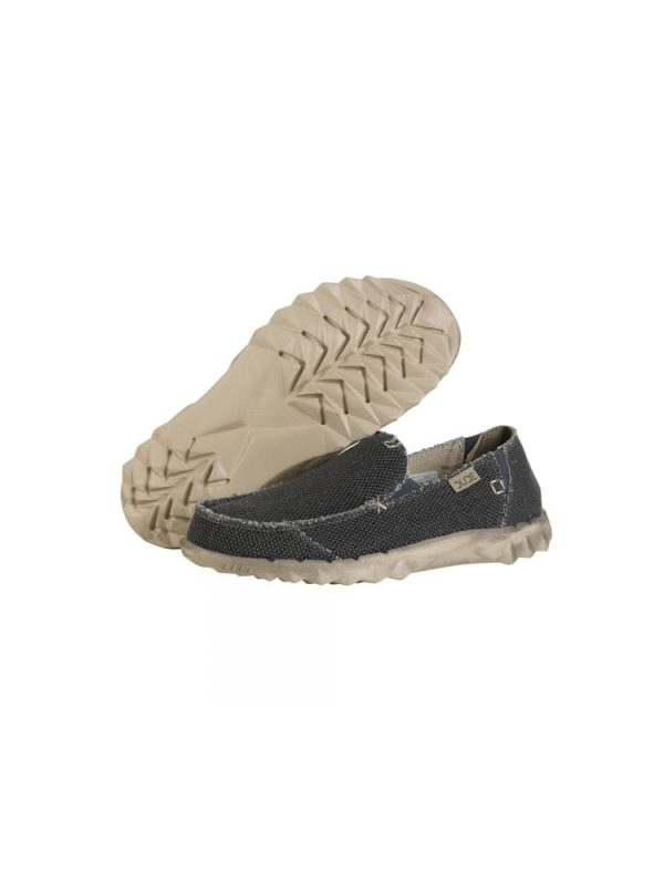 hey dude farty natural slip on mule black organic cotton mens 2