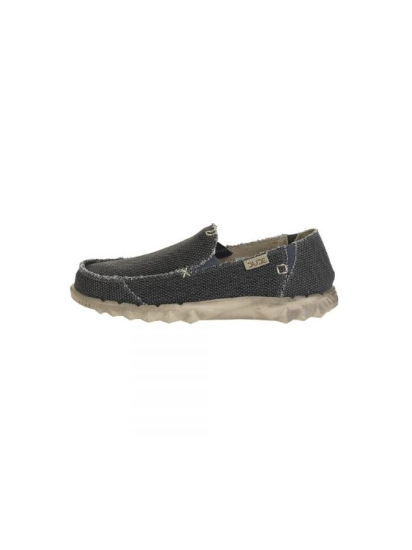 hey dude farty natural slip on mule black organic cotton mens 3