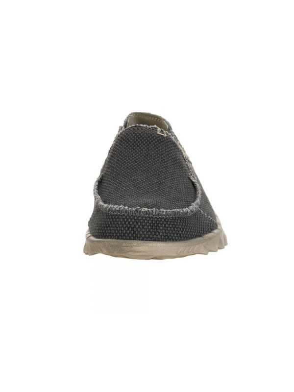 hey dude farty natural slip on mule black organic cotton mens 5