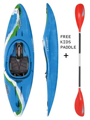 DAGGER AXIOM 6.9 CLUB LIME KIDS SIT IN KAYAK,