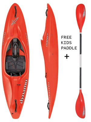 DAGGER DYNAMO 7.4 CLUB RED KIDS SIT IN KAYAK,