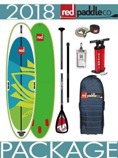 Red Paddle Co 10'8 Activ Inflatable paddleboard yoga