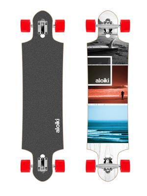 Aloiki FS Exposition 39.4 x 9.5 Complete Longboard Skateboard