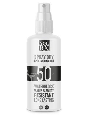 SPF50 SOLRX Pump Spray Sunscreen Sunblock Waterproof