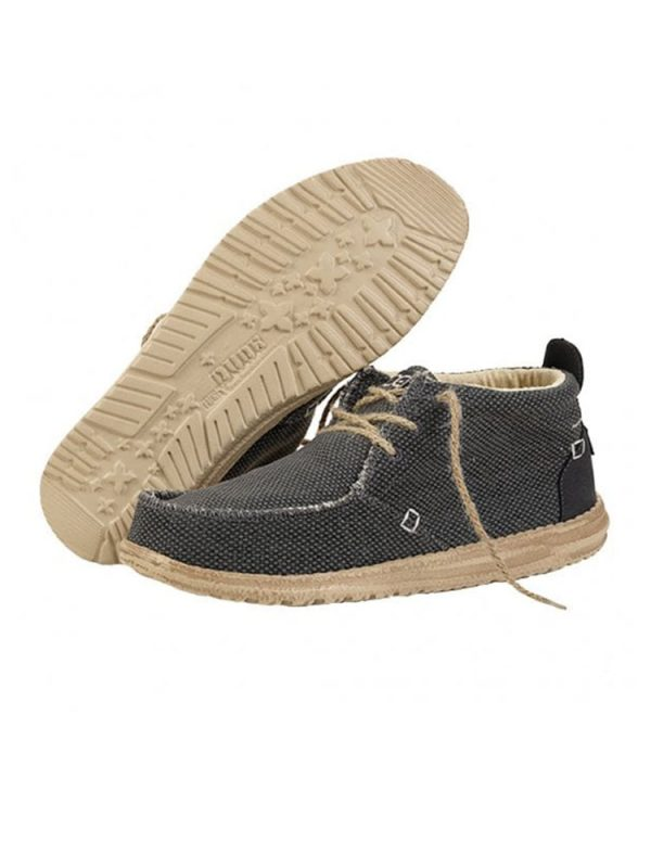 hey dude shoes conrad natural black textile