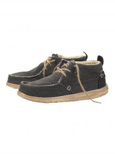 hey dude shoes conrad natural black textile