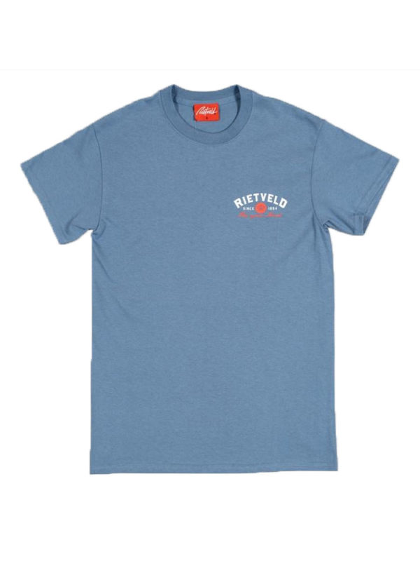 "Rietveld ""Got Boards"" Short Sleeved Tshirt – Blue Front"