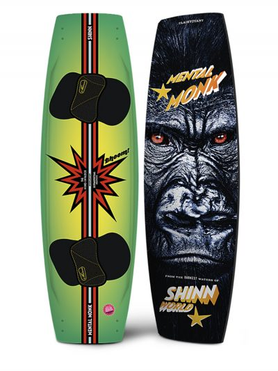 Shinn Monk Mental 2019 Kitesurfing Twin Tip Board with Pads and Straps