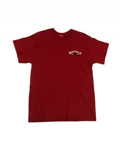 "Rietveld ""Al Einstein"" Short Sleeved Tshirt - Cardinal Red"