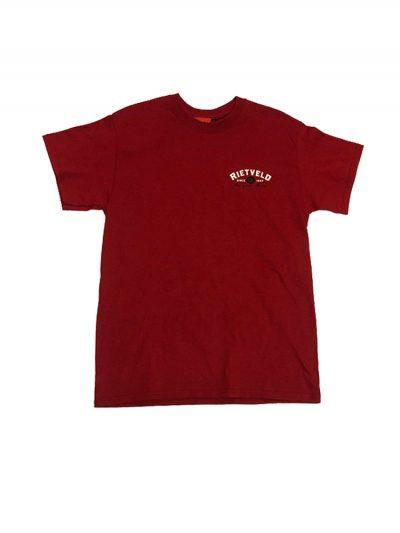 """Rietveld """"Al Einstein"""" Short Sleeved Tshirt - Cardinal Red"""