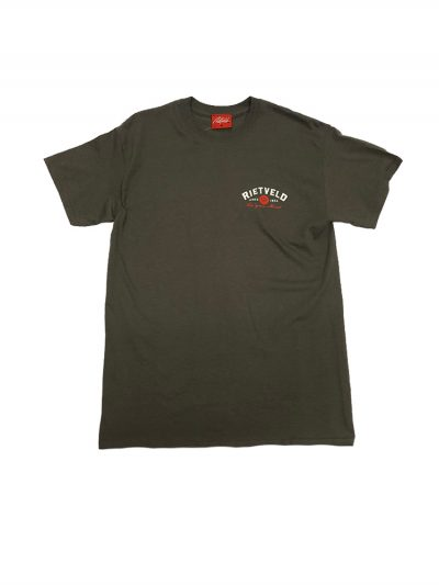 "Rietveld ""Book Em Danno"" Short Sleeved Tshirt - Charcoal"