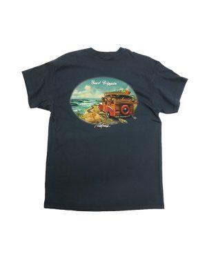 "Rietveld ""Surf Tripping"" Short Sleeved Tshirt - Heather Navy"