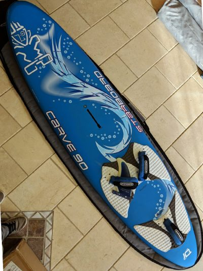 Second Hand 90ltr Starboard Carve Windsurfing Board Freeride with Bag