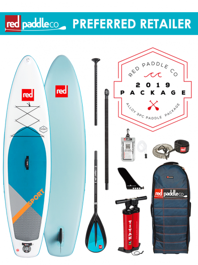 "Red Paddle Co 11'3"" Sport Inflatable SUP Package with Alloy Padddle"
