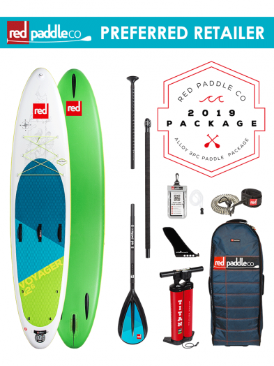 "Red Paddle Co 12'6"" Voyager Inflatable SUP Package Alloy Paddle 2019"