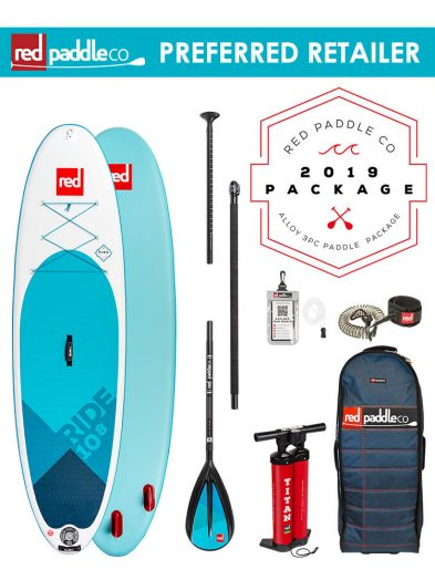 Red Paddle Co 10'8″ Ride 2019 Inflatable SUP Package