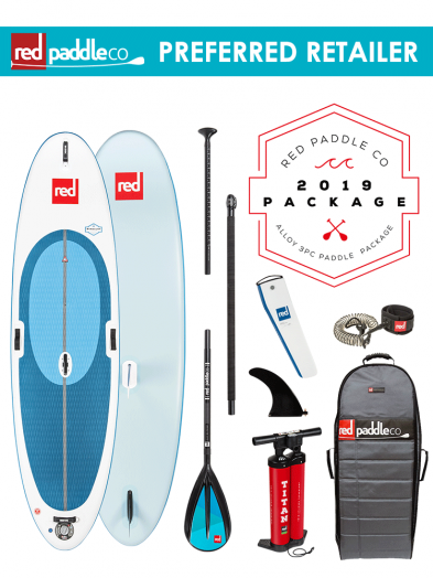 "Red Paddle Co 10'7"" Windsurf Inflatable SUP Package with Alloy Paddle"