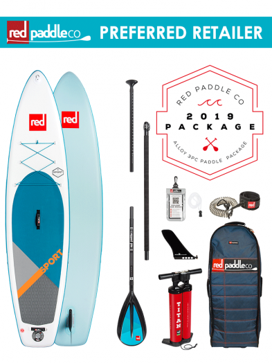 "Red Paddle Co 11'0"" Sport Inflatable SUP Package with Alloy Padddle"