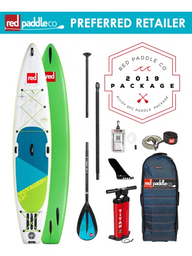 """Red Paddle Co 12'6"""" Voyager Inflatable SUP Package"""