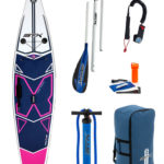 """11'6""""X 32"""" X-Light Pink Tourer STX 2018 Inflatable Paddleboard SUP Package"""