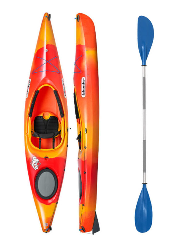 Islander Jive Sunset Red with Drift Paddle Package