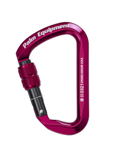 Palm Screw Gate Karabiner Red (pink)