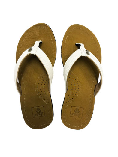 Reef Miss J-Bay Tan White Flip Flops