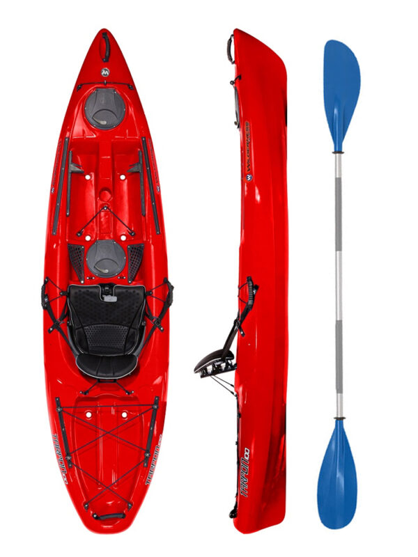Wilderness Systems Tarpon 100 Red with Drift Paddle Package