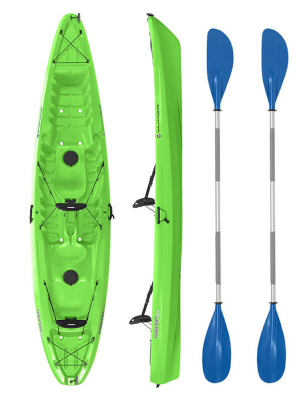 Wilderness Systems Tarpon 130 Green with Drift Paddles Package
