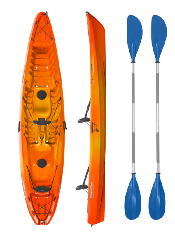 Wilderness Systems Tarpon 130 Mango with Drift Paddles Package