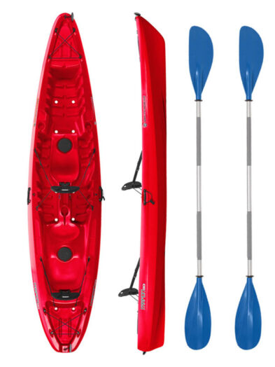 Wilderness Systems Tarpon 130 Red with Drift Paddles Package