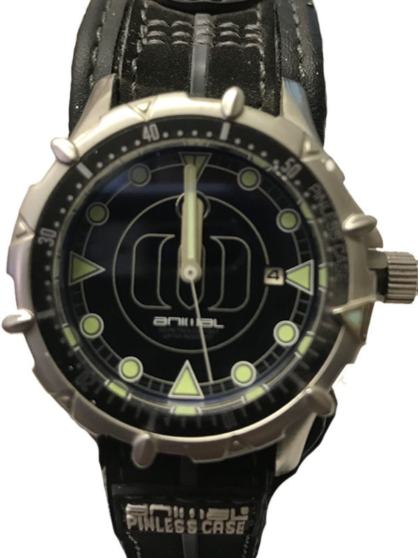 Animal Watches Mens Black Watch
