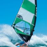Naish 2019 Sails Green-White on the water