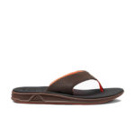 Reef Rover Brown Orange Mens Flip Flops