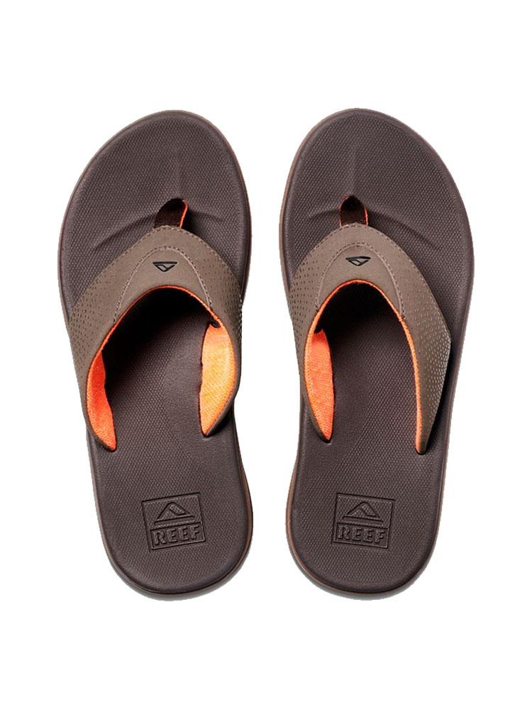 d145df64e739 Reef Rover Brown Orange Mens Flip Flops ...