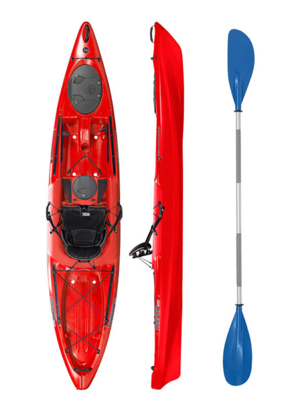 Wilderness Systems Tarpon 120 Red with Drift Paddle Package