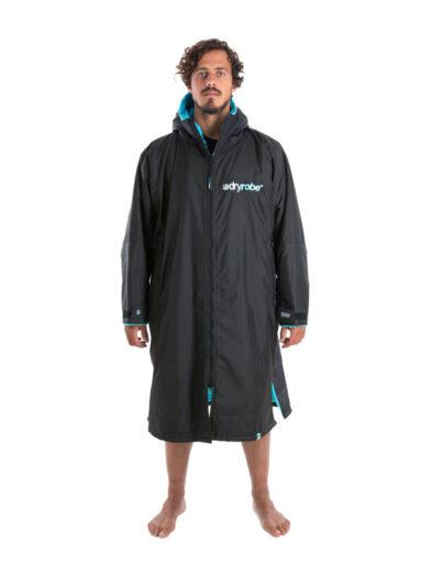 Dry Robe Long Sleeve Black-Blue Large
