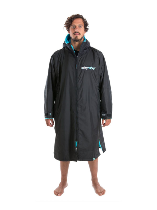 Dry Robe Long Sleeve Black-Blue Large
